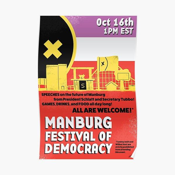 Manburg Festival Poster Poster