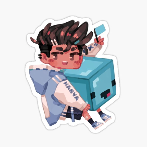 Blockhead skeppy Sticker
