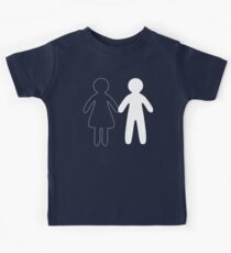 Missing half in chalk (Part II - girl) Kids Clothes
