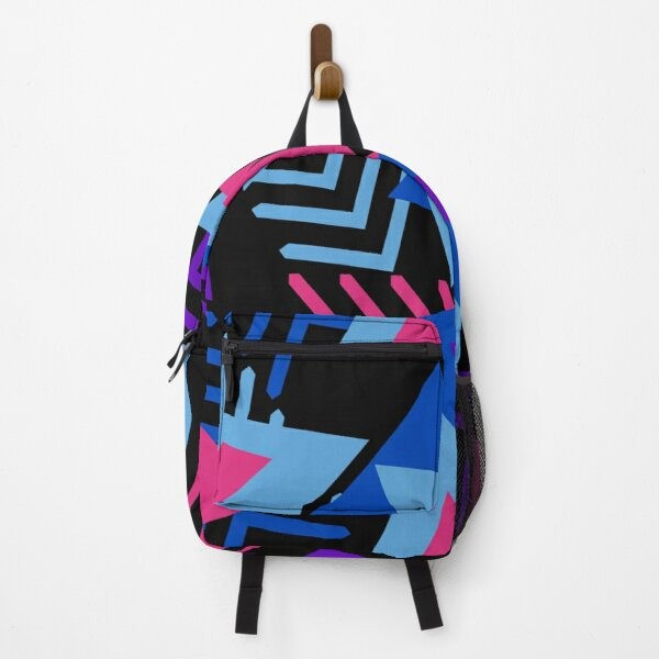 80s Geometric Pop Art Pattern On Shirts Bags And Home Decor Backpack