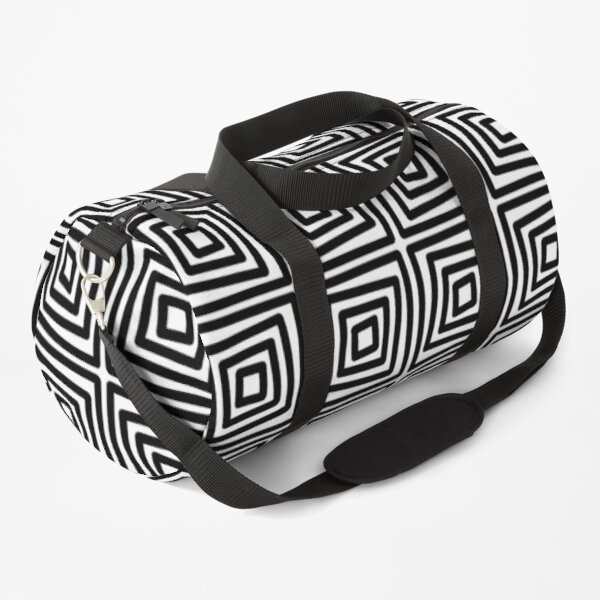 Modern Meander Pattern On Shirts Bags And Home Decor Duffle Bag