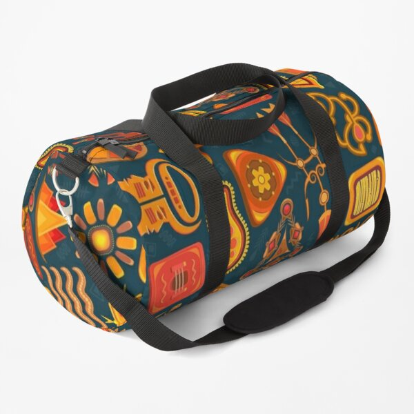 African Traditional Native Pattern On Shirts Bags And Home Decor Duffle Bag