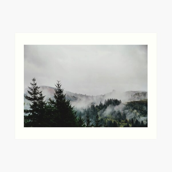 Foggy PNW Day Art Print