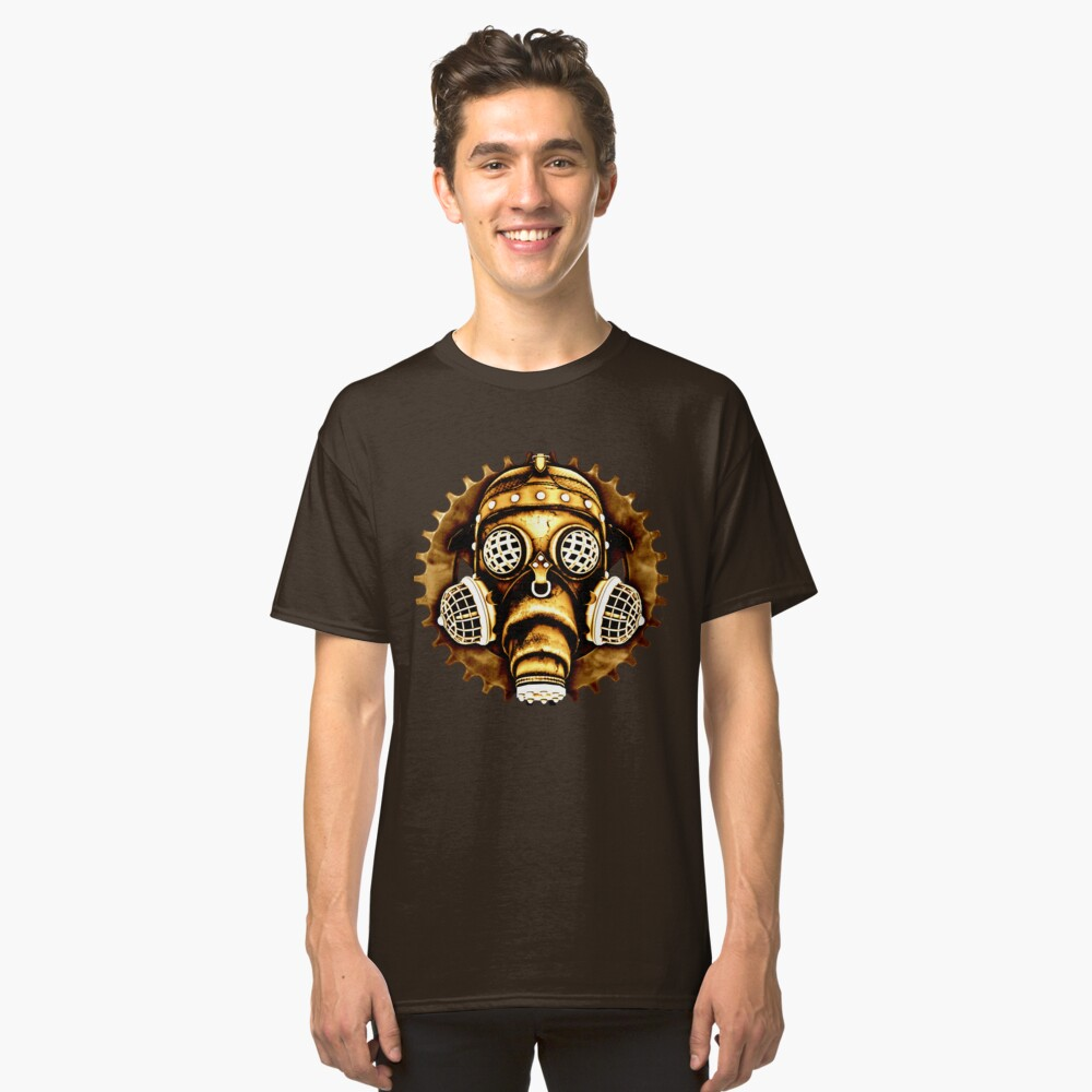 Steampunk/Cyberpunk Gas Mask #1D Steampunk T-Shirts Classic T-Shirt