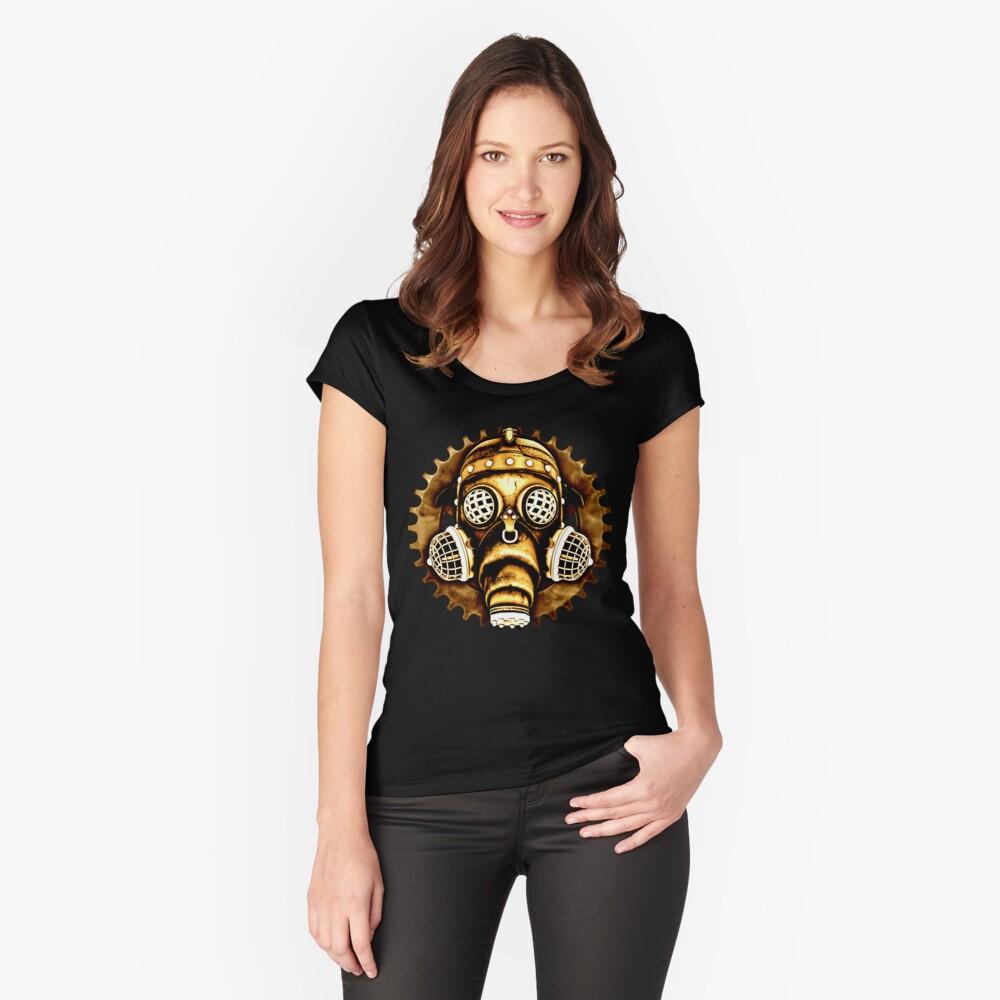 Steampunk/Cyberpunk Gas Mask #1D Steampunk T-Shirts Fitted Scoop T-Shirt