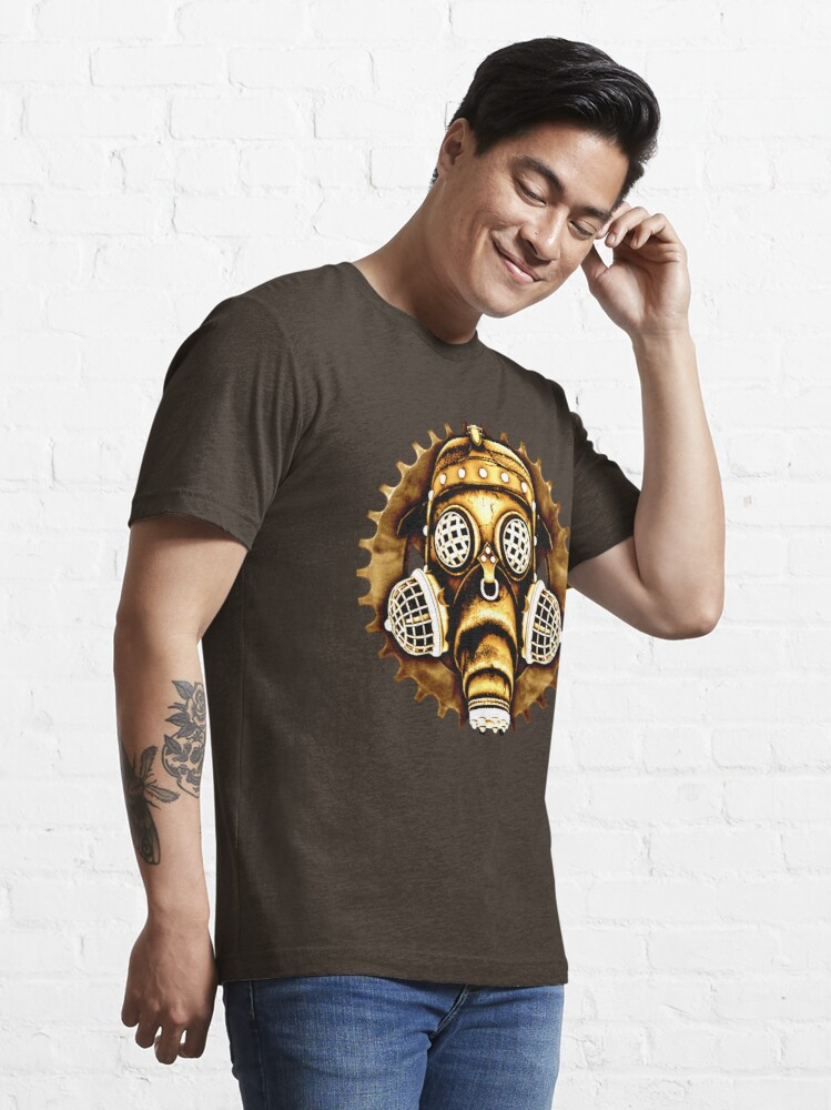 Alternate view of Steampunk/Cyberpunk Gas Mask #1D Steampunk T-Shirts Essential T-Shirt
