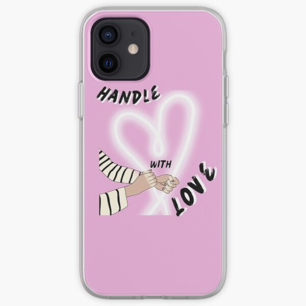 handle with love iPhone Soft Case