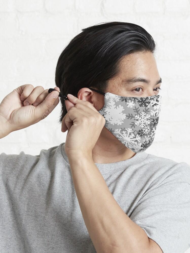 Alternate view of Snowflake Camo Mask