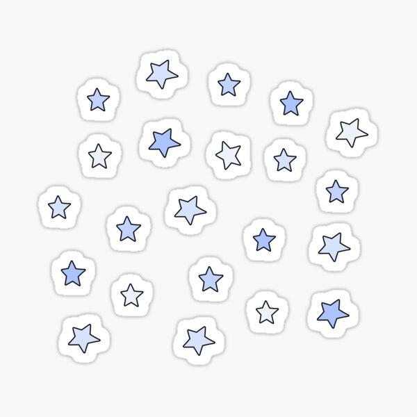 light blue mini star pack Sticker