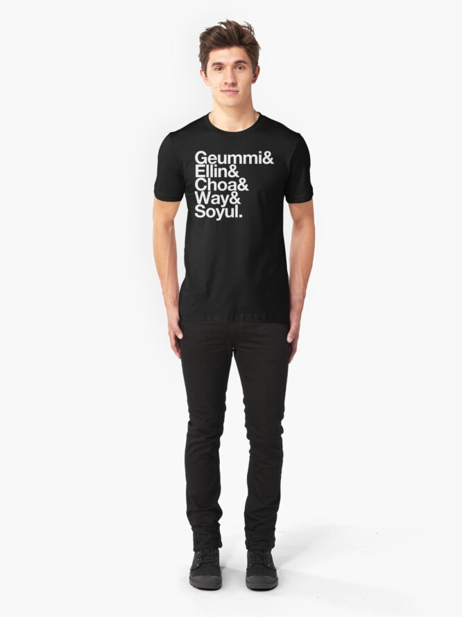 Alternate view of Crayon Pop goes Helvetica Slim Fit T-Shirt
