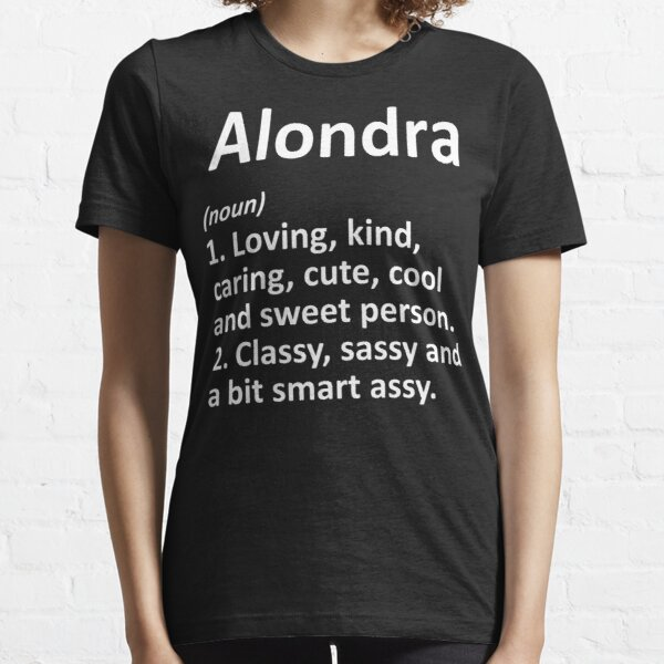 Alondra Definition Personalized Funny Idea Long Sleeve Essential T-Shirt