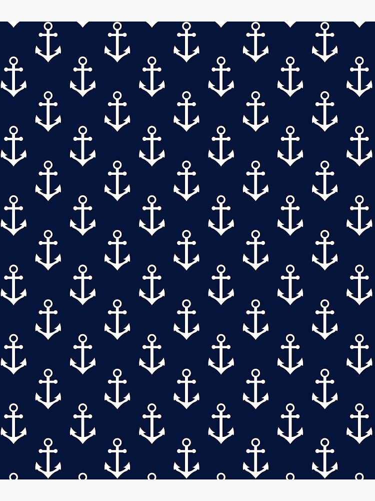 Blue Nautical Anchor Pattern by newburyboutique