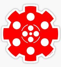Gear - Red on Black Sticker