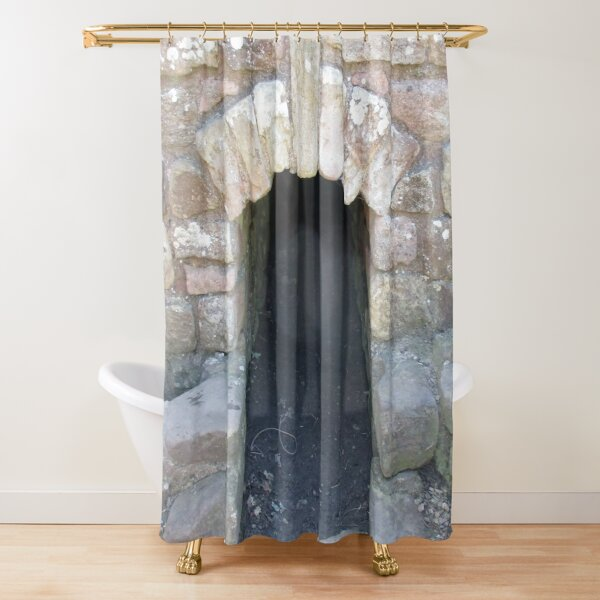 Merch #101 -- STOKE~HOLE (Hadrian's Wall) Shower Curtain