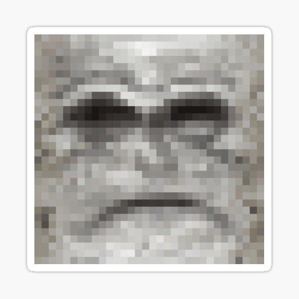 WesterosCraft Grumpy Face Weirwood Tree Emoji Pixel Art Icon Sticker