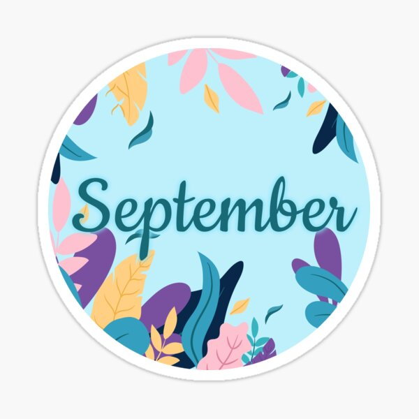 September monthly image for bullet journals & greeting cards Sticker