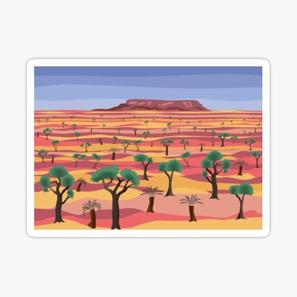 Outback landscape Sticker