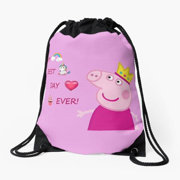 Peppa pig birthday Drawstring Bag