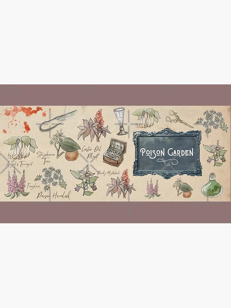 Poison Garden Illustration in Watercolor by WitchofWhimsy