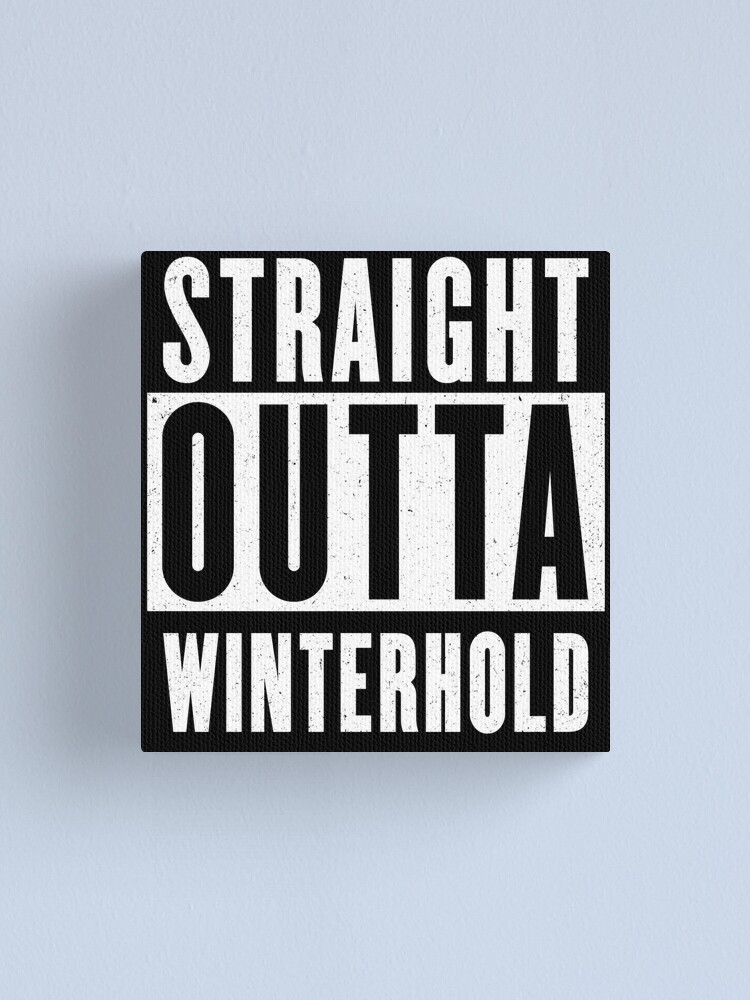 Alternate view of Straight outta Winterhold Canvas Print