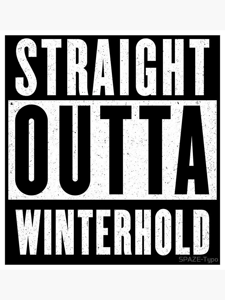 Straight outta Winterhold by SPAZE-Typo