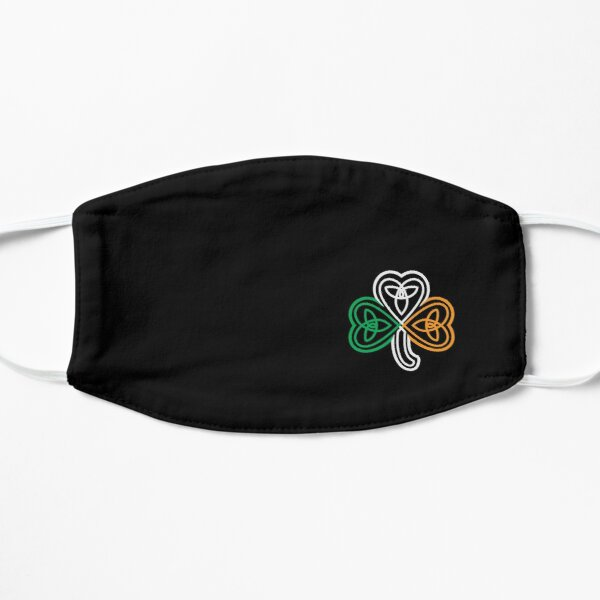 Ireland Flag Over a Celtic Knot Shamrock Mask
