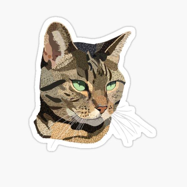Green Eyed Kitty  Sticker