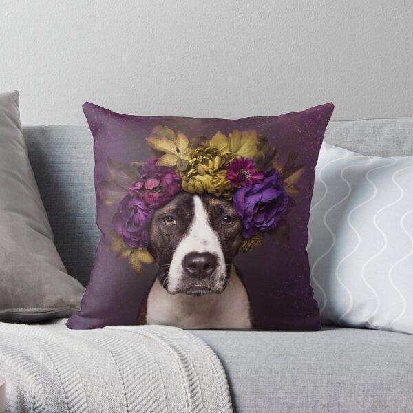 Flower Power, Susie Throw Pillow