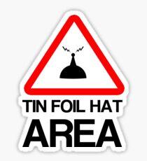 Tin Foil Hat Area Sticker