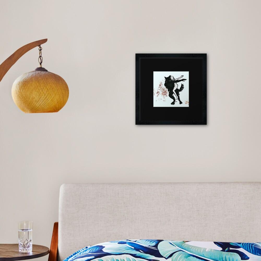 Werewolf Boyfriend Framed Art Print