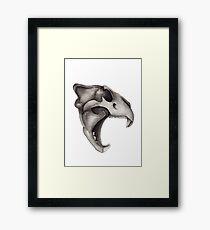 Lion Skull - Hear Me Roar Framed Print