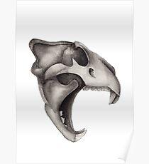 Lion Skull - Hear Me Roar Poster