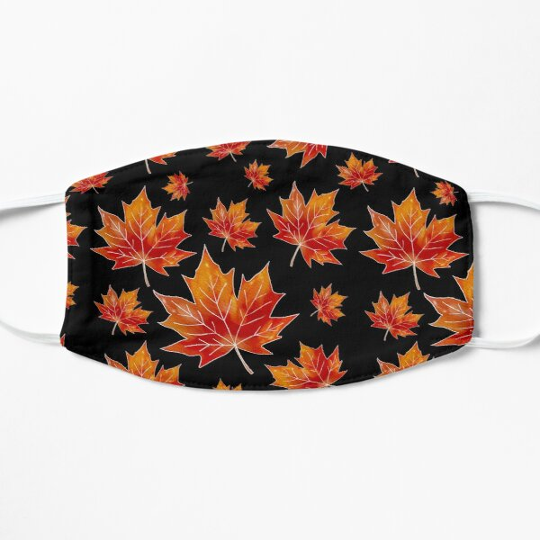 Clear Fall Maple Leaf Flat Mask
