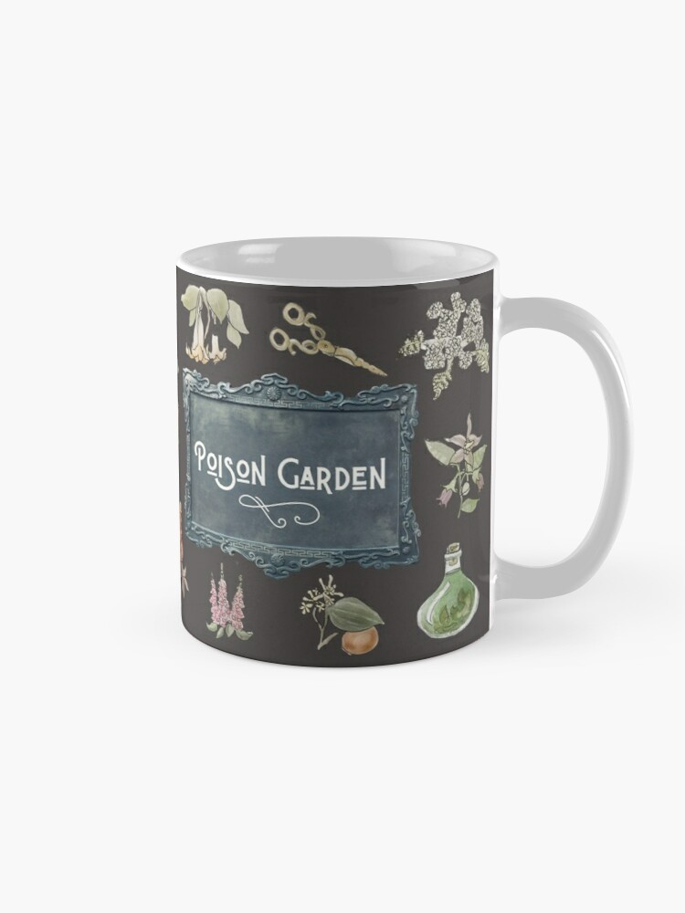 Alternate view of Poison Garden Dark Illustration in Watercolor Mug