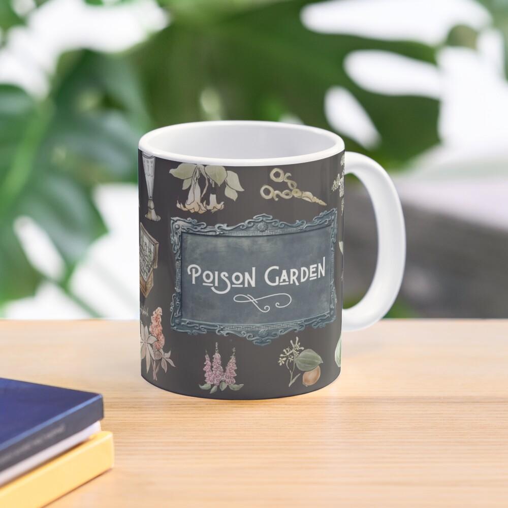 Poison Garden Dark Illustration in Watercolor Mug