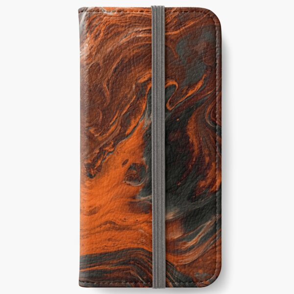 Lava currents abstract project iPhone Wallet