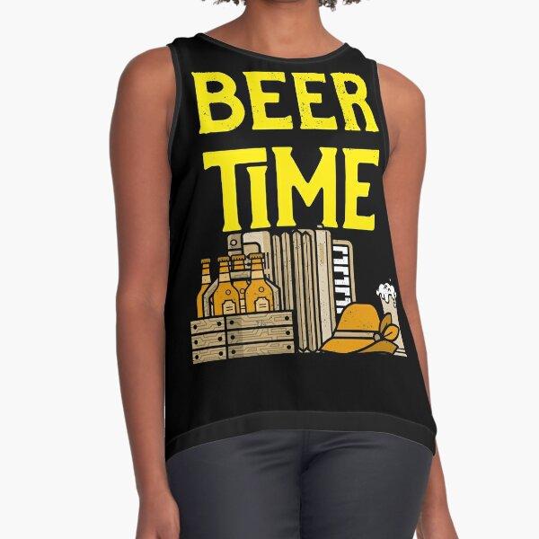 Beer Time - The Amber Nectar, Love Beer, Drink Beer,    Sleeveless Top