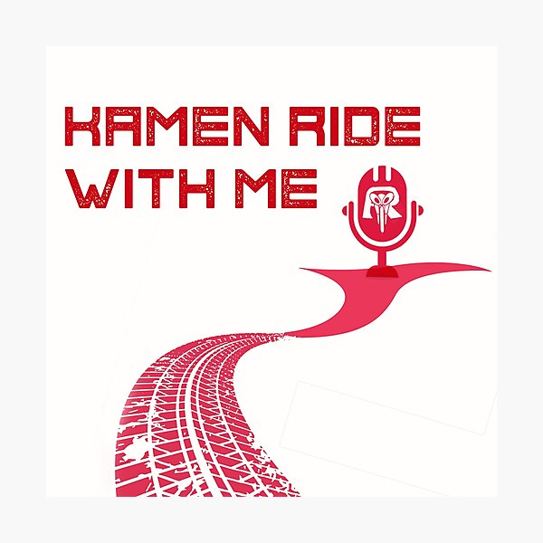 Kamen Ride With Me Logo Photographic Print