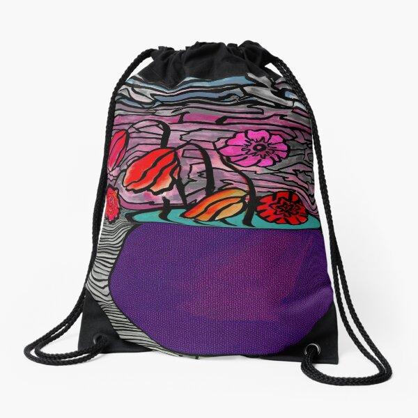 Flower Pot Drawstring Bag