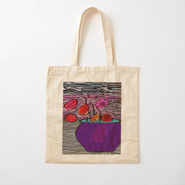 Flower Pot Cotton Tote Bag