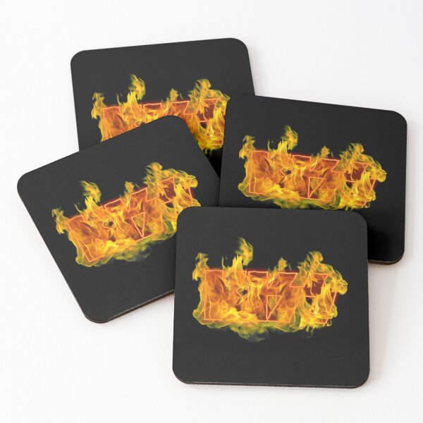 Kiss Band Fire Logo  Coasters (Set of 4)
