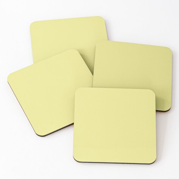 Yellow Iris 11-0622 TCX | Pantone | Color Trends | London | Spring Summer 2020 | Solid Color | Fashion Colors | Coasters (Set of 4)