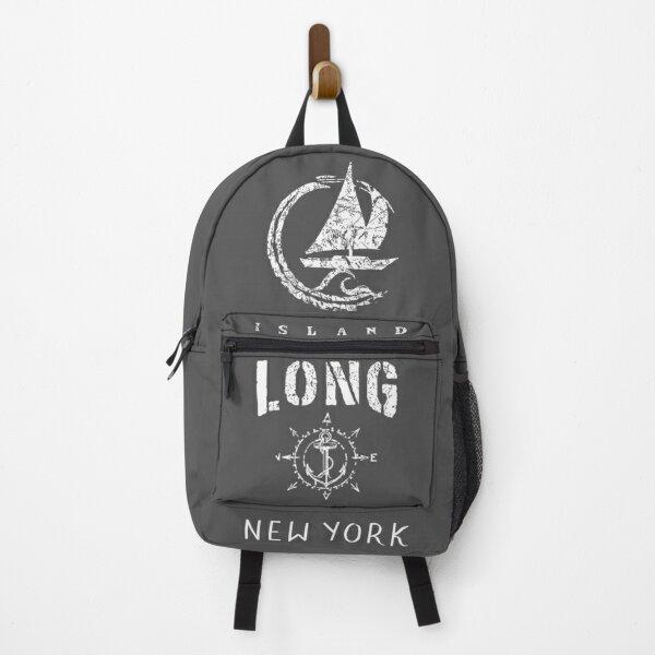 Long Island New York, New York Beaches, Sailboat Sailing Yacht Nautical Wave Souvenir Gift Backpack