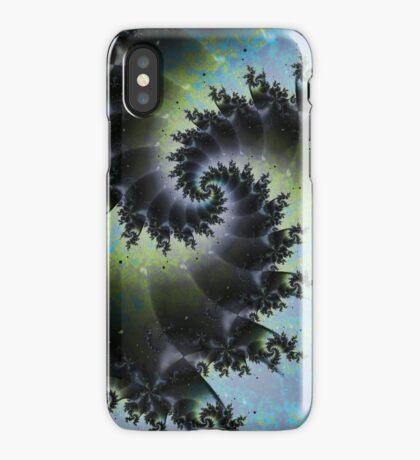 Blue Spiral Galaxy iPhone Case