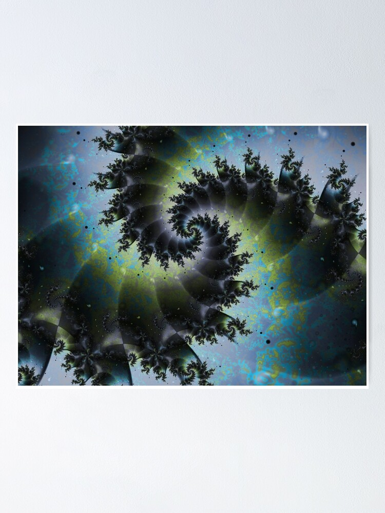 Alternate view of Blue Spiral Galaxy Poster