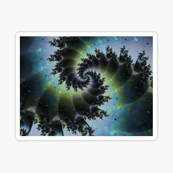 Blue Spiral Galaxy Sticker