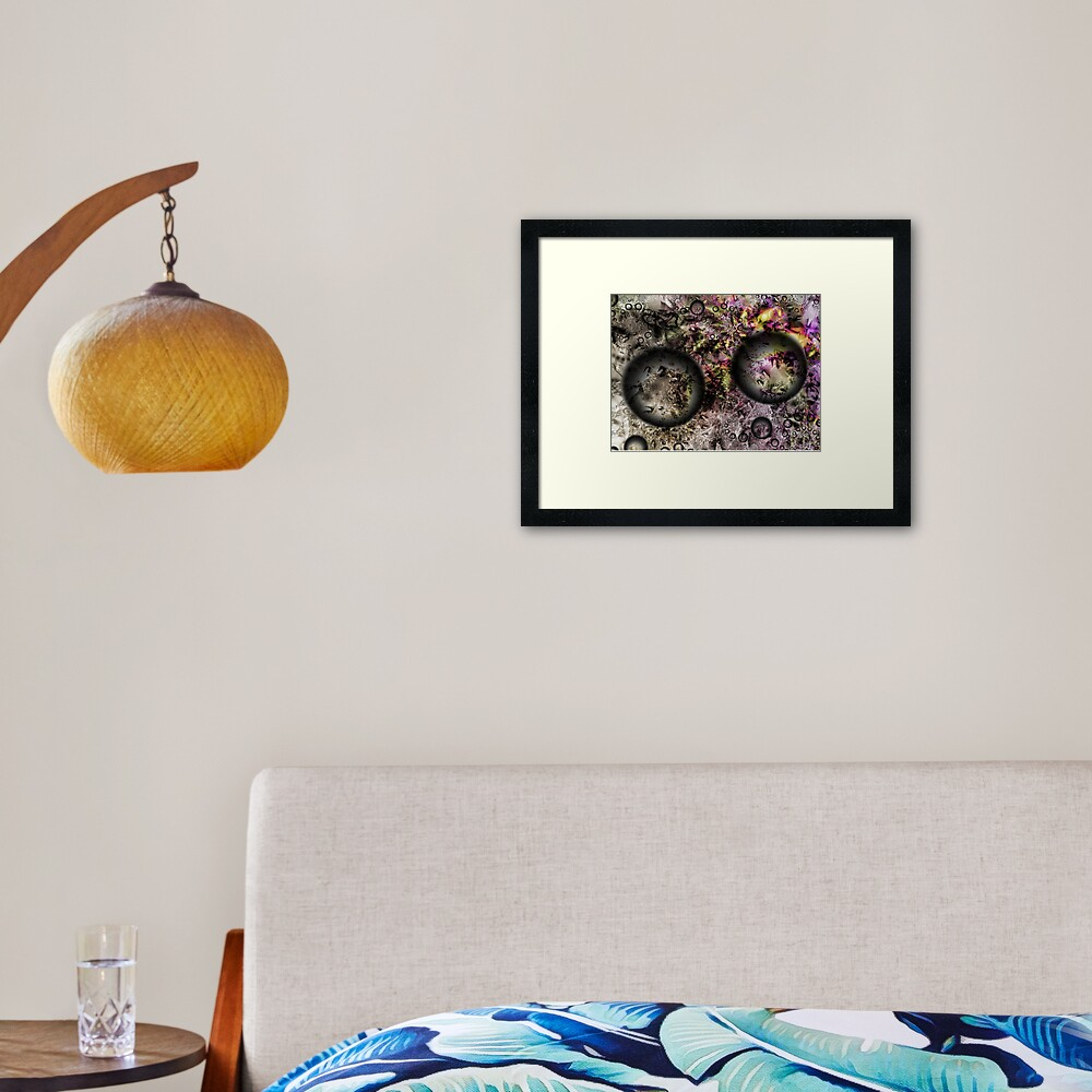 Duality Galaxy Framed Art Print