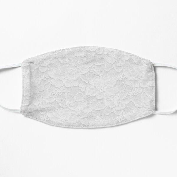 White Lace  Flat Mask