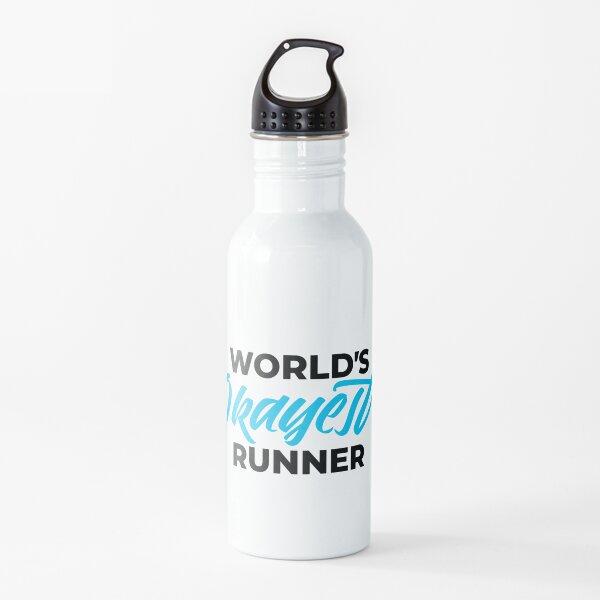 EL CORREDOR MÁS BIEN DE WOLRLD Botella de agua