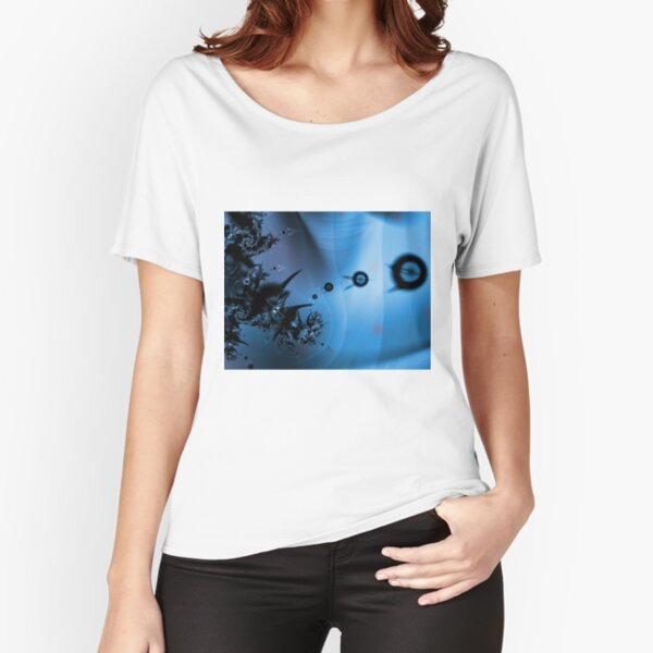 Blue Ocean Abstract Relaxed Fit T-Shirt